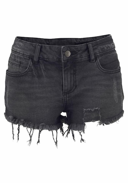 Hosen für Frauen - Hotpants › Buffalo › black denim  - Onlineshop ABOUT YOU