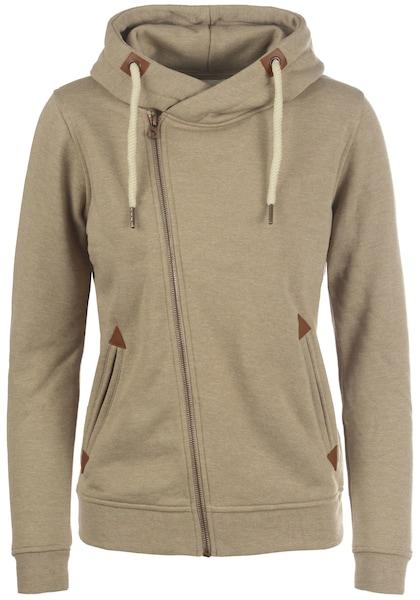 Jacken für Frauen - Desires Sweatjacke 'Vicky' beige  - Onlineshop ABOUT YOU