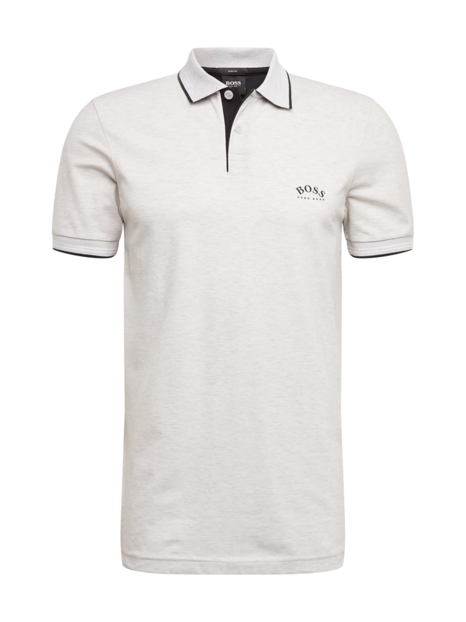 BOSS ATHLEISURE Marškinėliai 'Paul Curved' šviesiai pilka