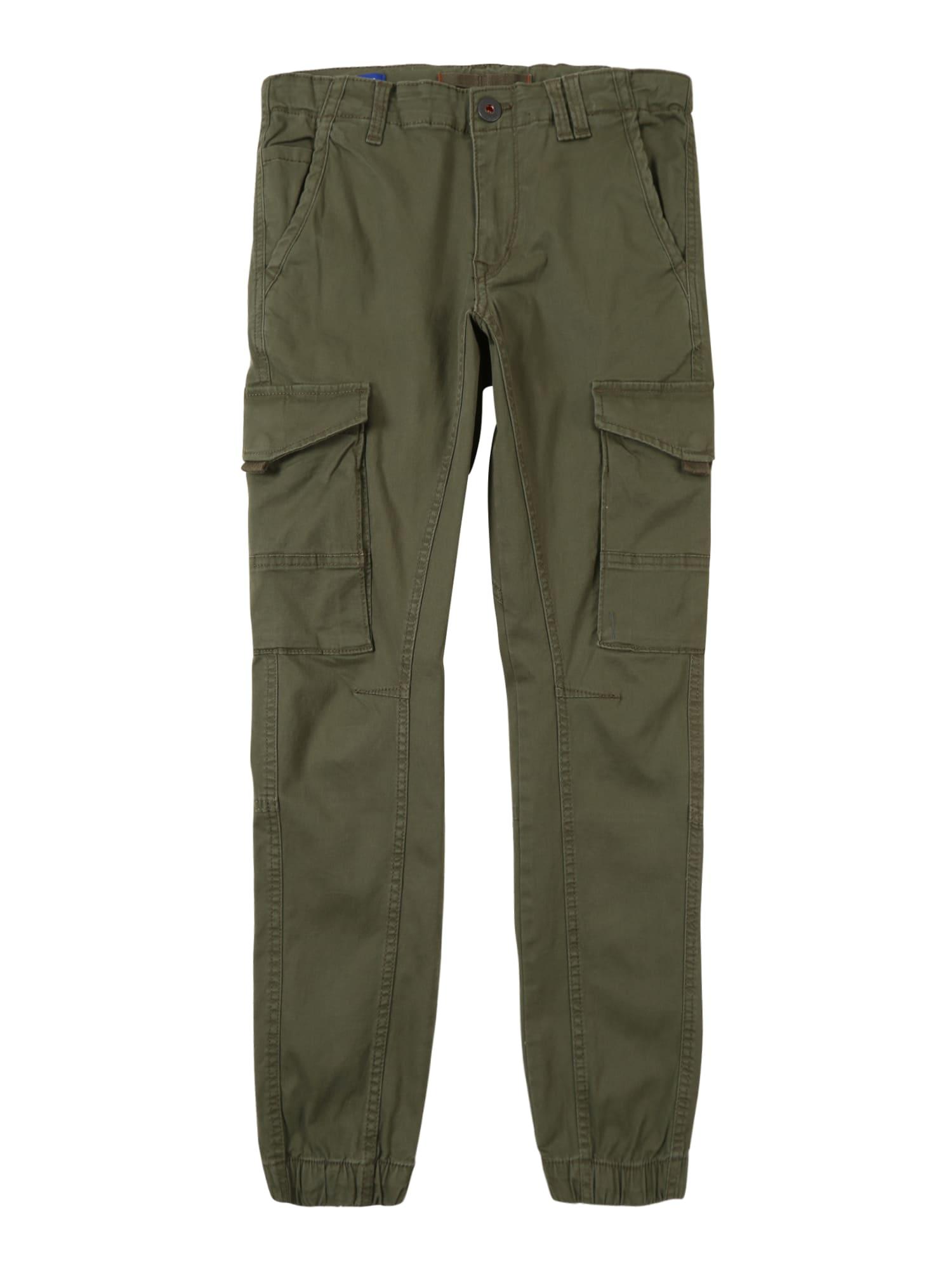 Jack & Jones Junior Kelnės 'PAUL FLAKE AKM' alyvuogių spalva