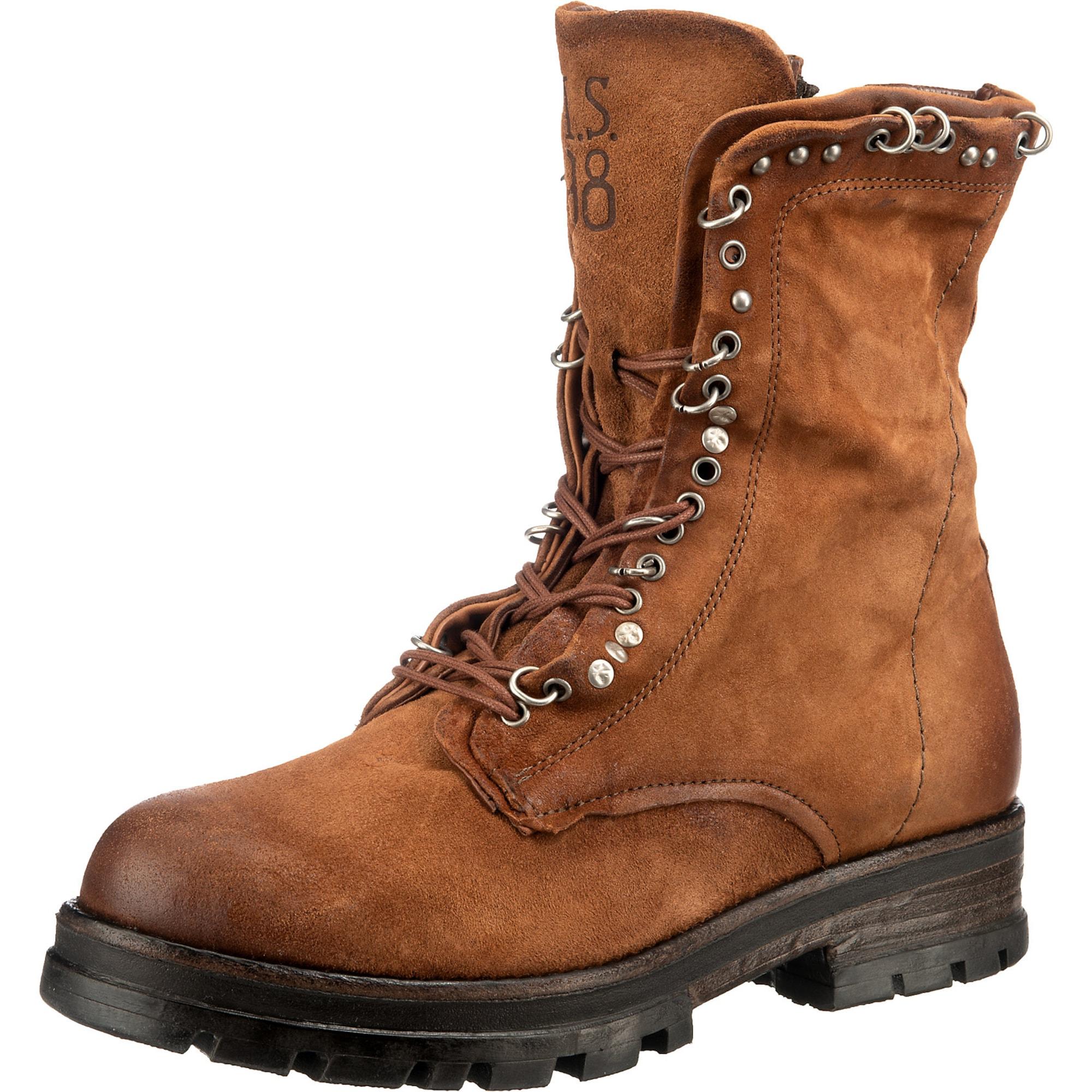 A.S.98 Suvarstomieji kulkšnis dengiantys batai karamelės