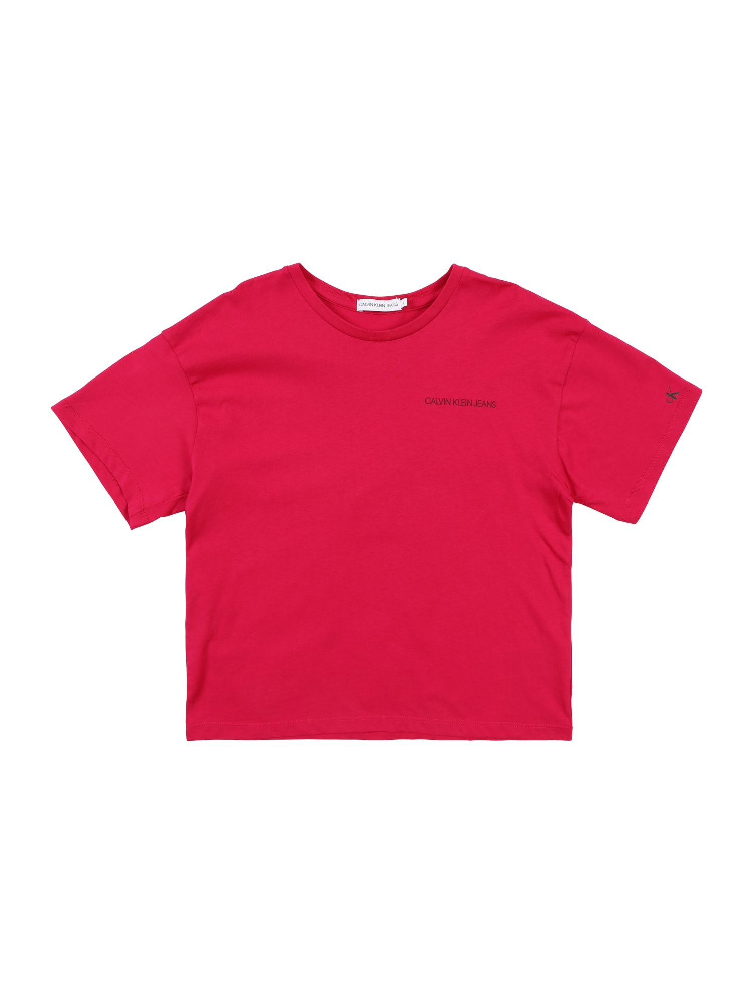 Calvin Klein Jeans Marškinėliai 'CHEST LOGO BOXY TOP' rožinė