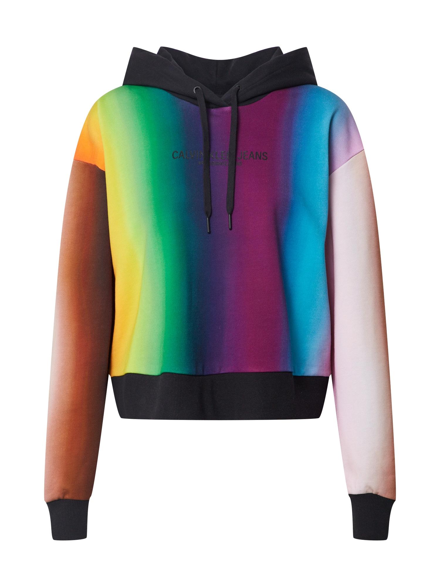 Calvin Klein Jeans Megztinis be užsegimo 'Rainbow Blur AOP' mišrios spalvos