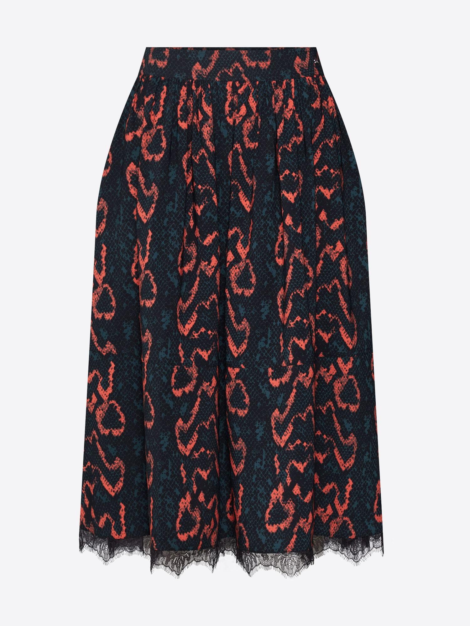 Calvin Klein Sijonas oranžinė / juoda