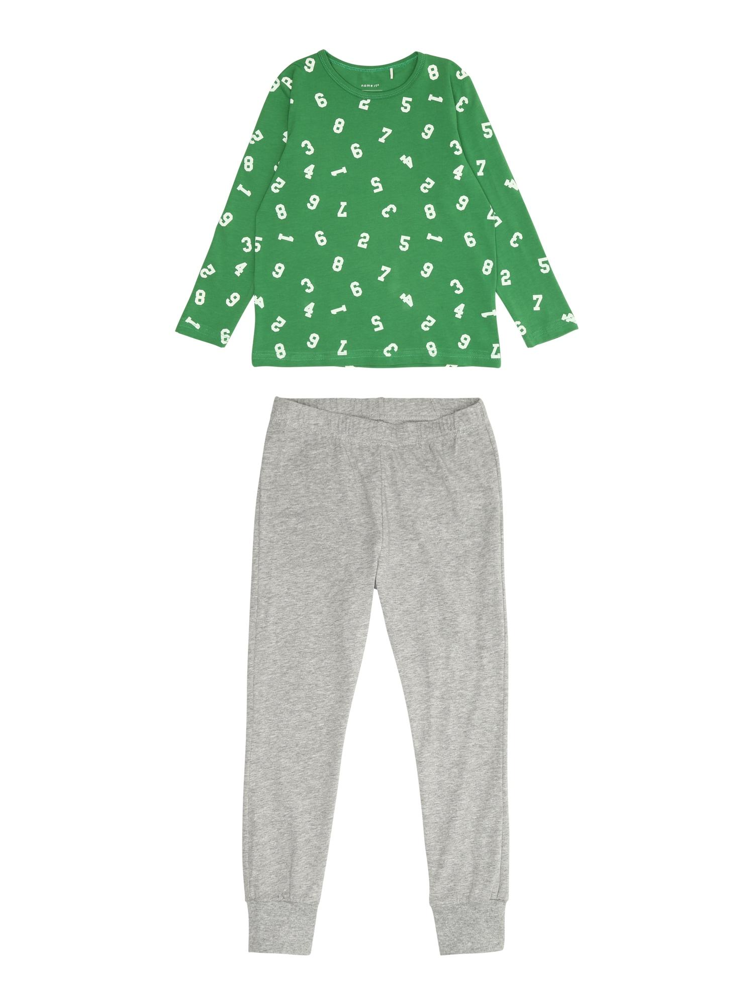 Pyžamo šedá zelená NAME IT