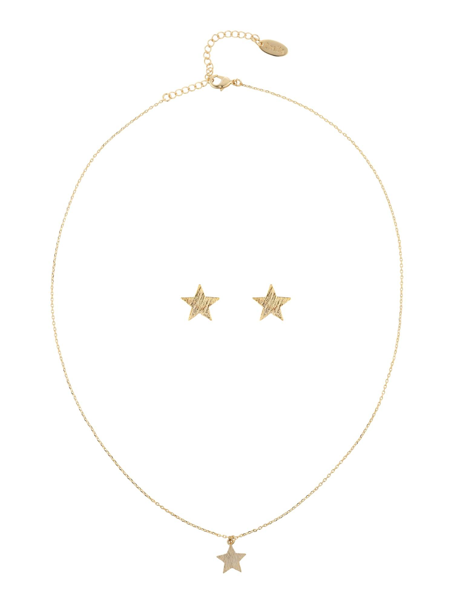 Schmucksets für Frauen - Orelia Schmuck Set 'Brushed Star Giftbox' gold  - Onlineshop ABOUT YOU