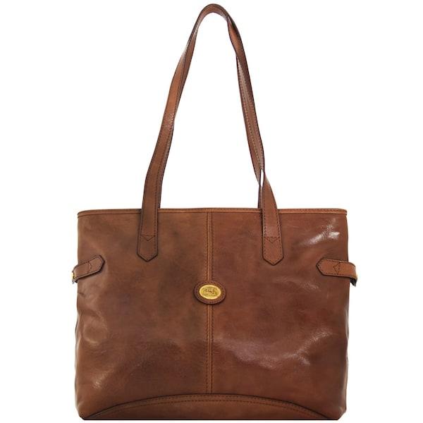 Shopper - Story Donna Shopper Tasche Leder 37 cm › The Bridge › karamell  - Onlineshop ABOUT YOU