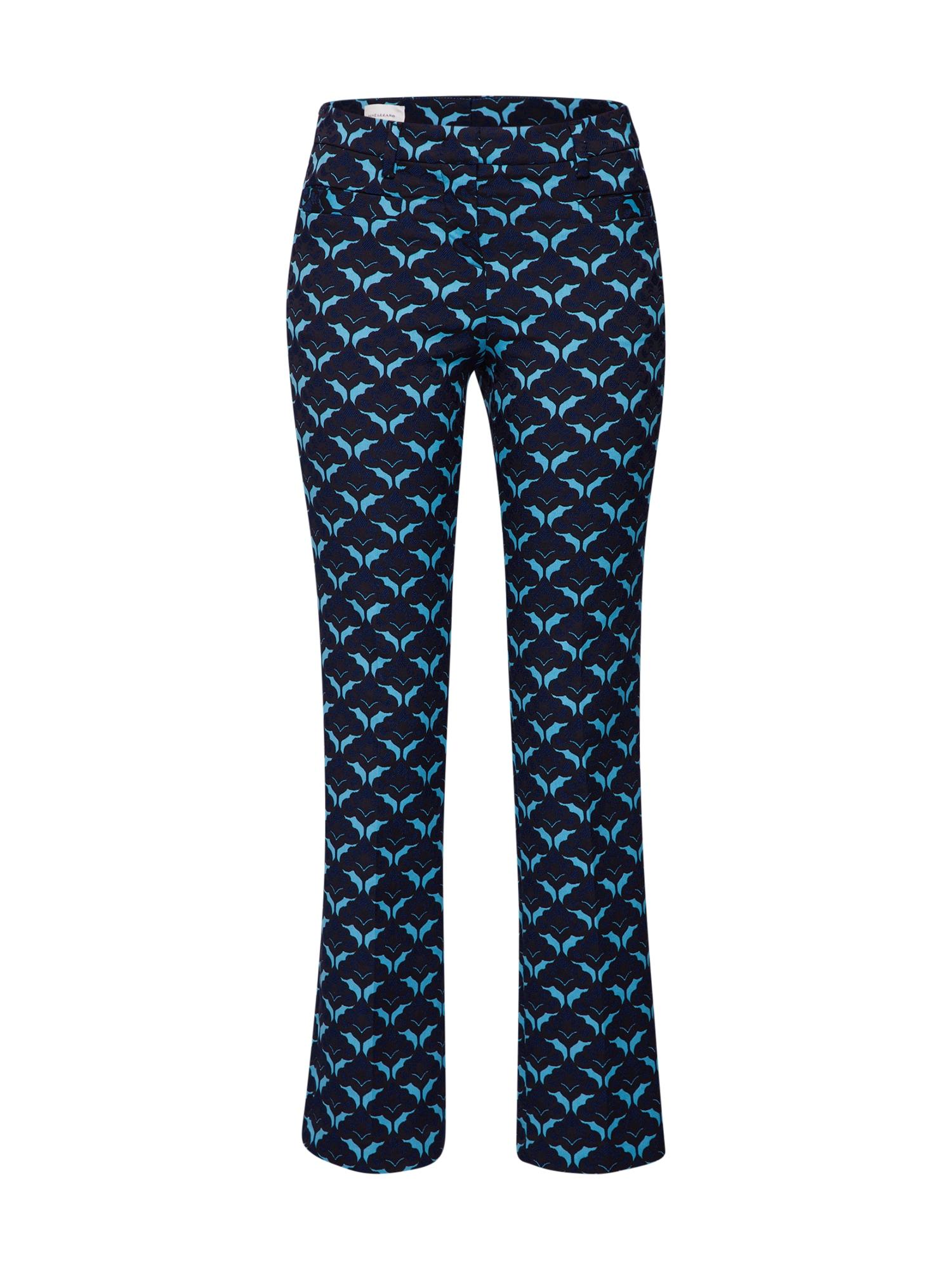 Kalhoty F039S tyrkysová ultramarínová modř RENÉ LEZARD