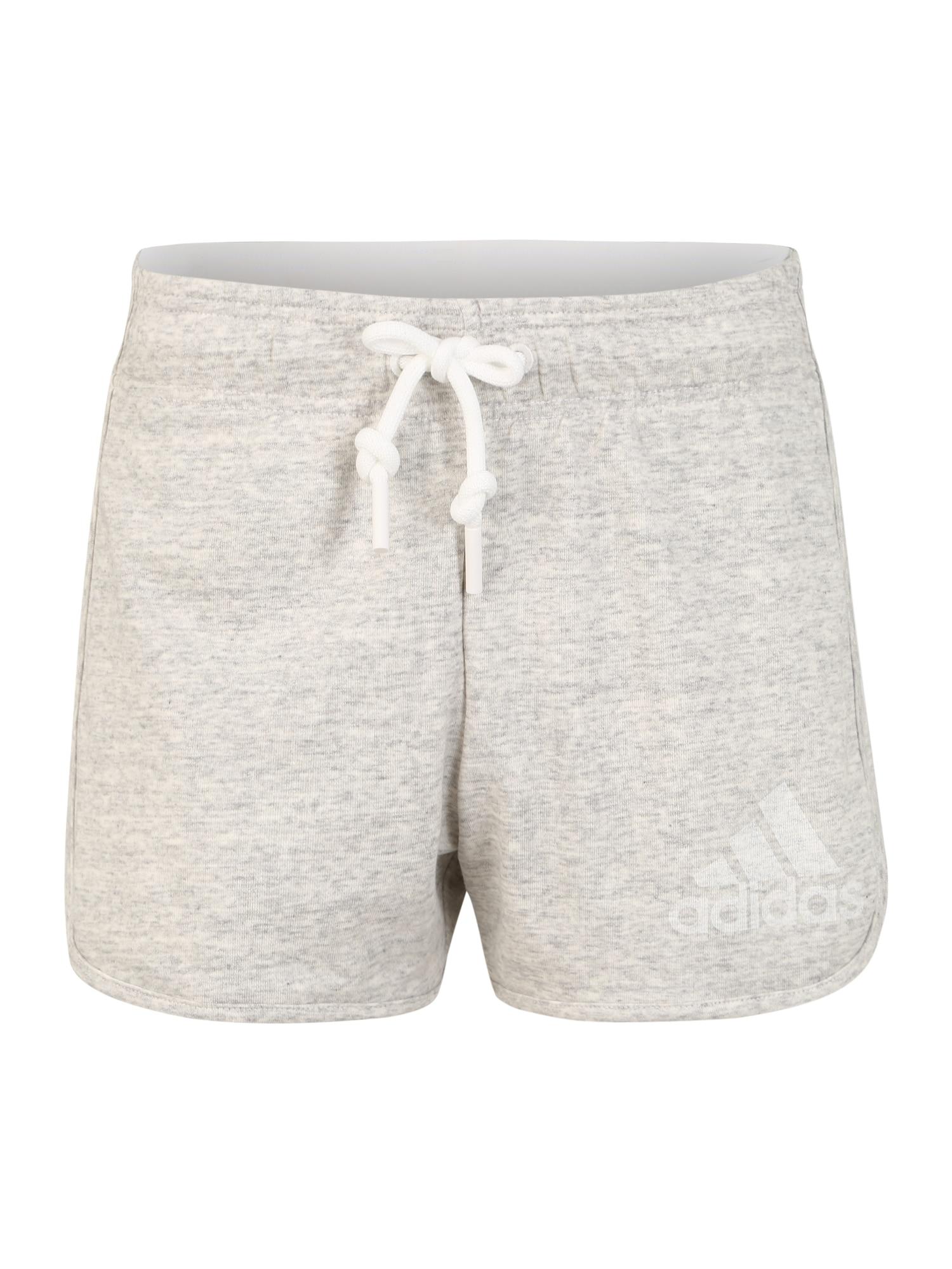 ADIDAS PERFORMANCE Sportinės kelnės margai pilka / šviesiai pilka