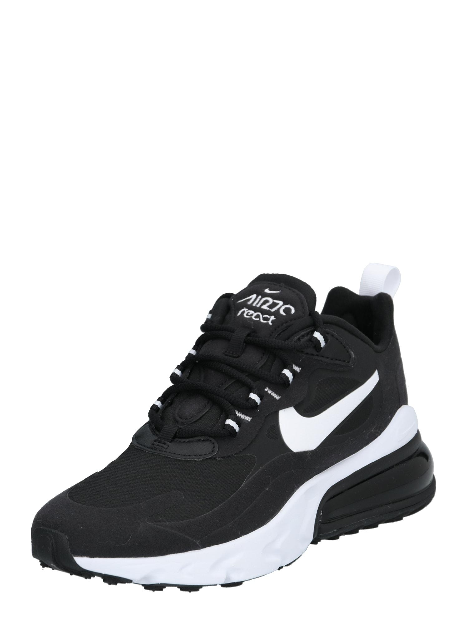 Nike Sportswear Sportbačiai be auliuko 'AIR MAX 270 REACT' juoda / balta