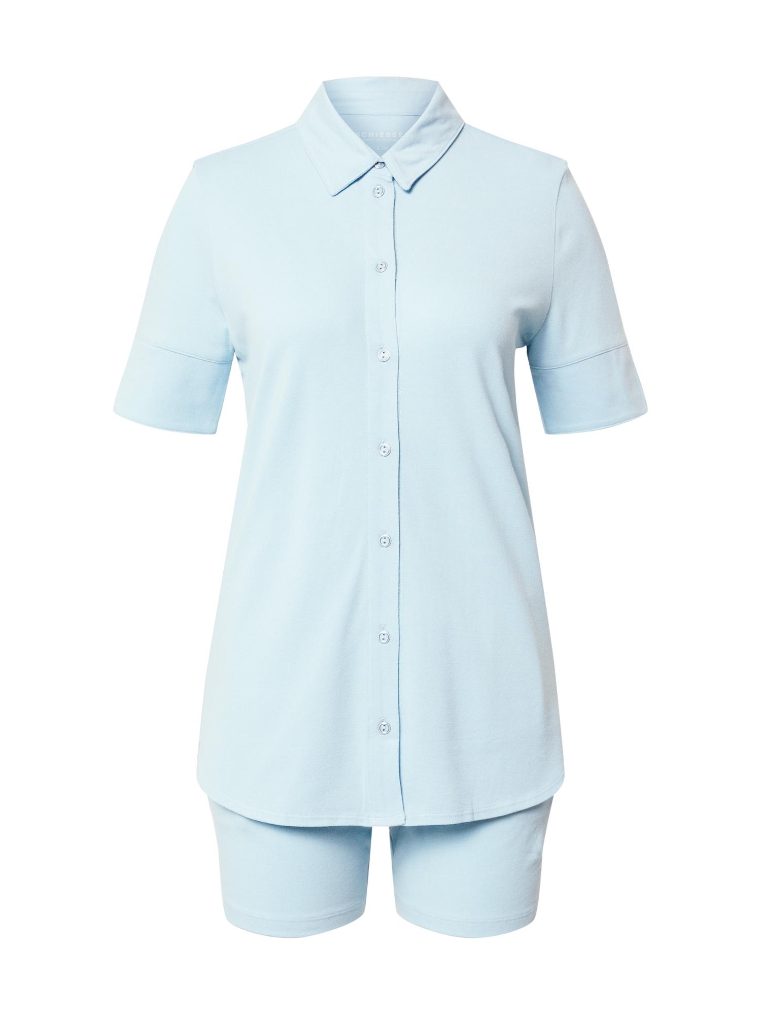 SCHIESSER Pižama su šortais šviesiai mėlyna