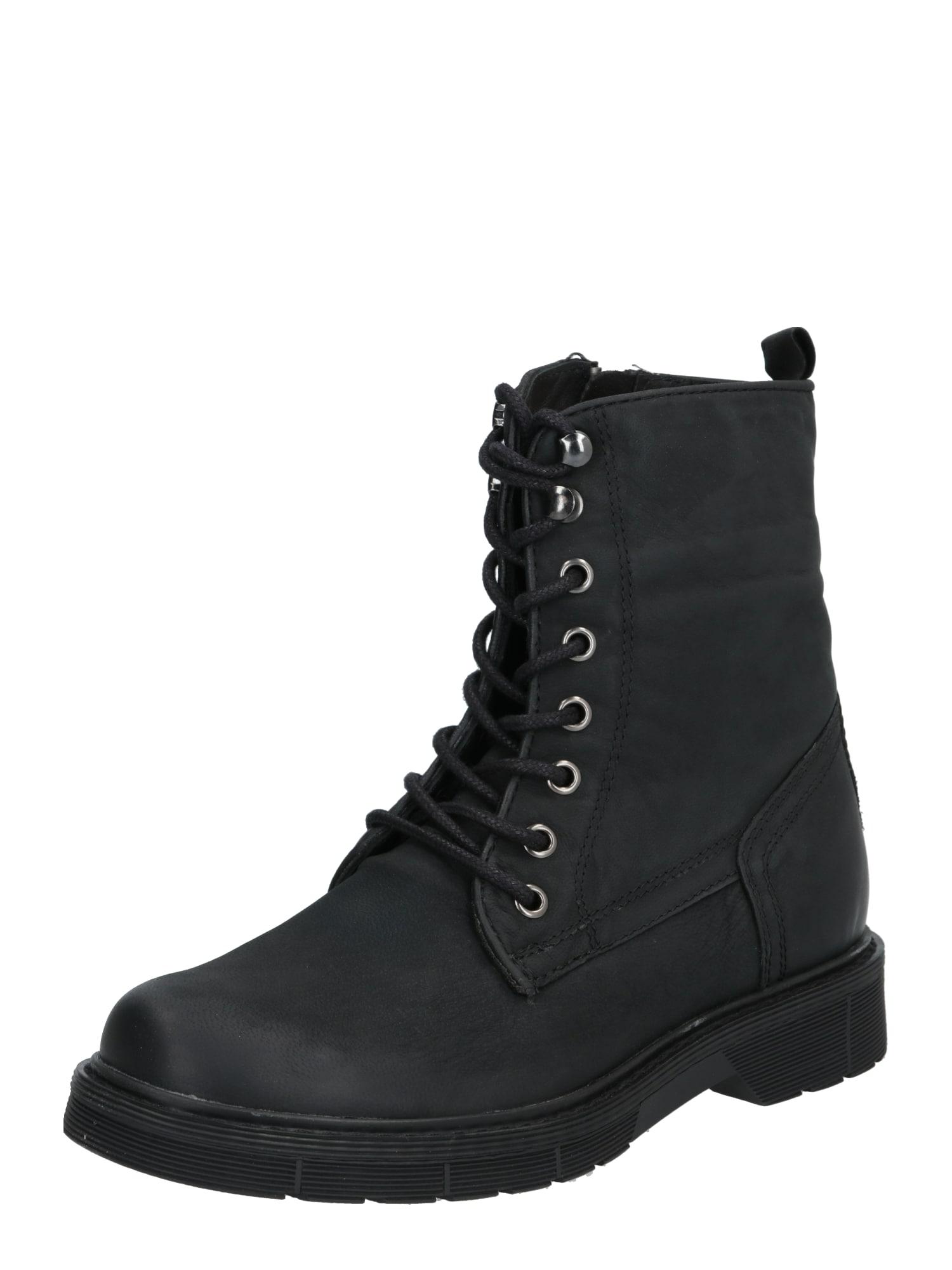 ABOUT YOU Suvarstomieji kulkšnis dengiantys batai 'Melinda' juoda