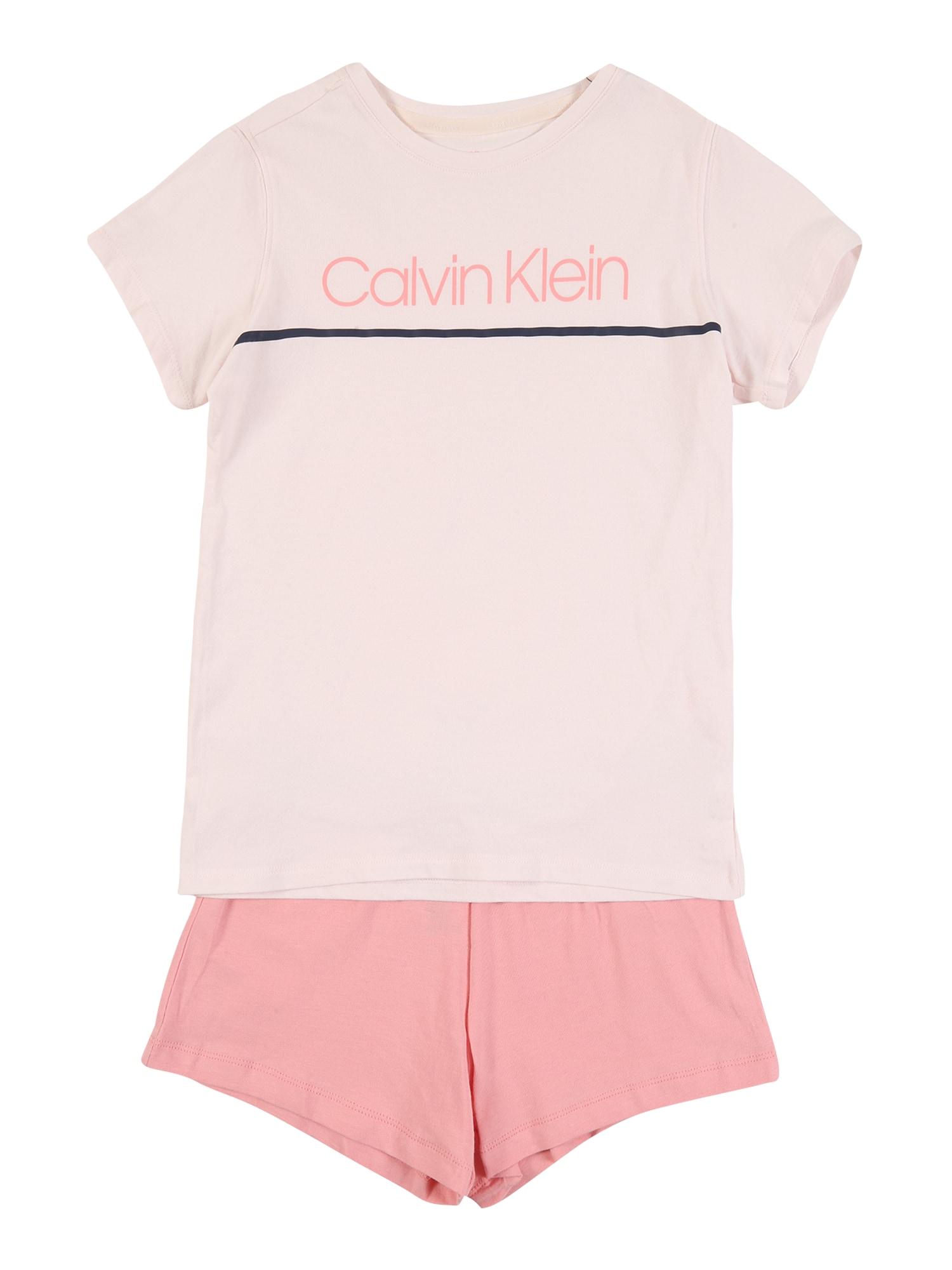 Calvin Klein Underwear Miego kostiumas rožių spalva / kremo