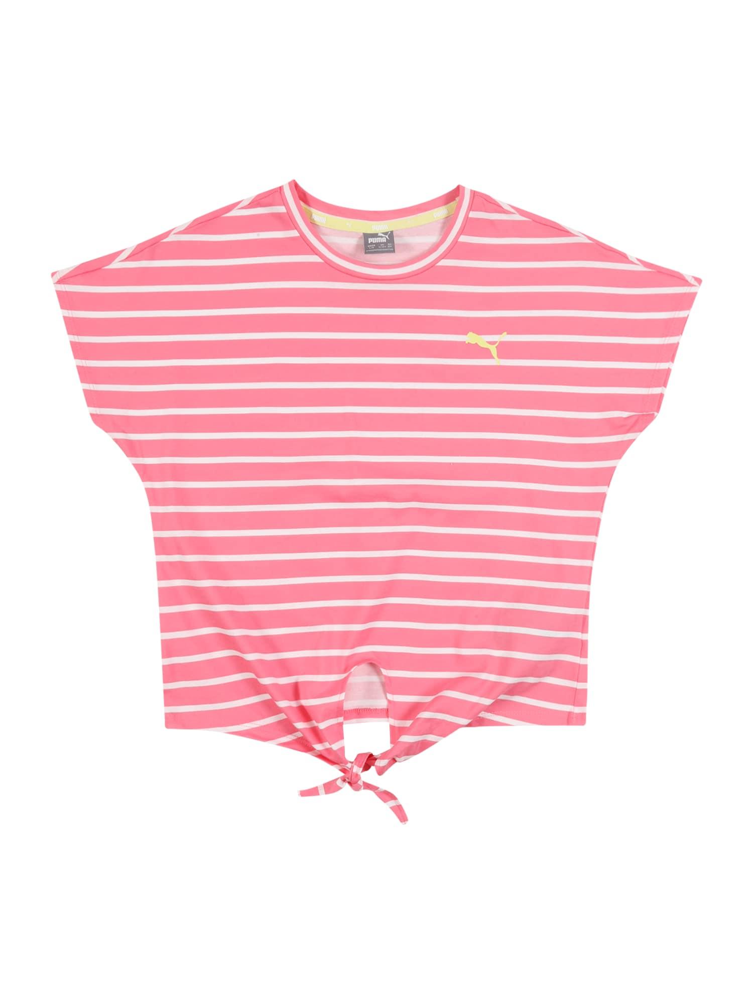 PUMA Sportiniai marškinėliai 'Alpha' rožinė / balta