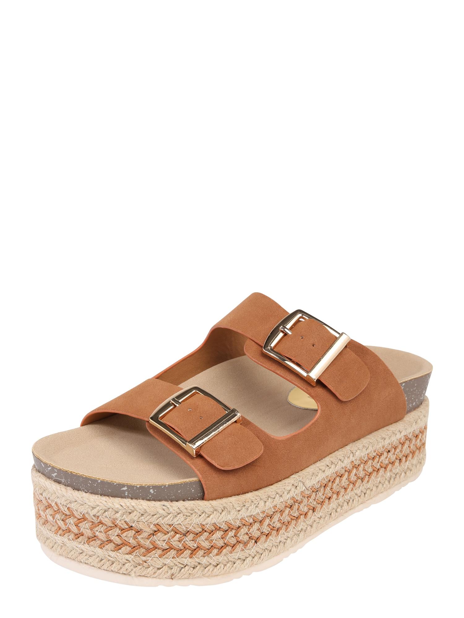Páskové sandály 69789 velbloudí hnědá Refresh
