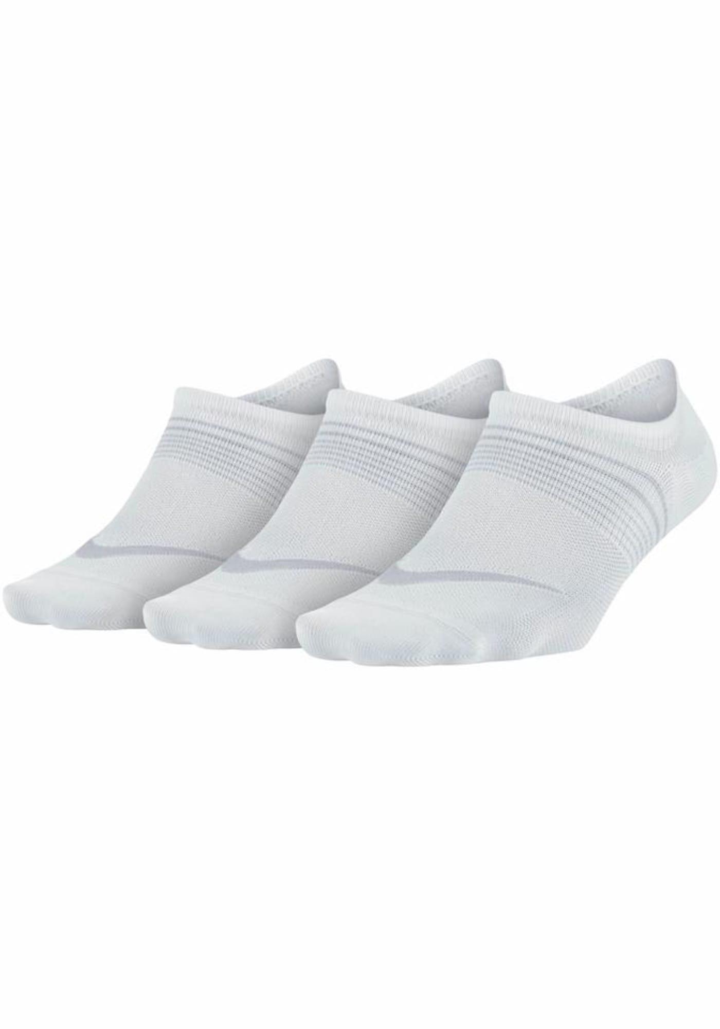 NIKE Sportinės kojinės balta / pilka