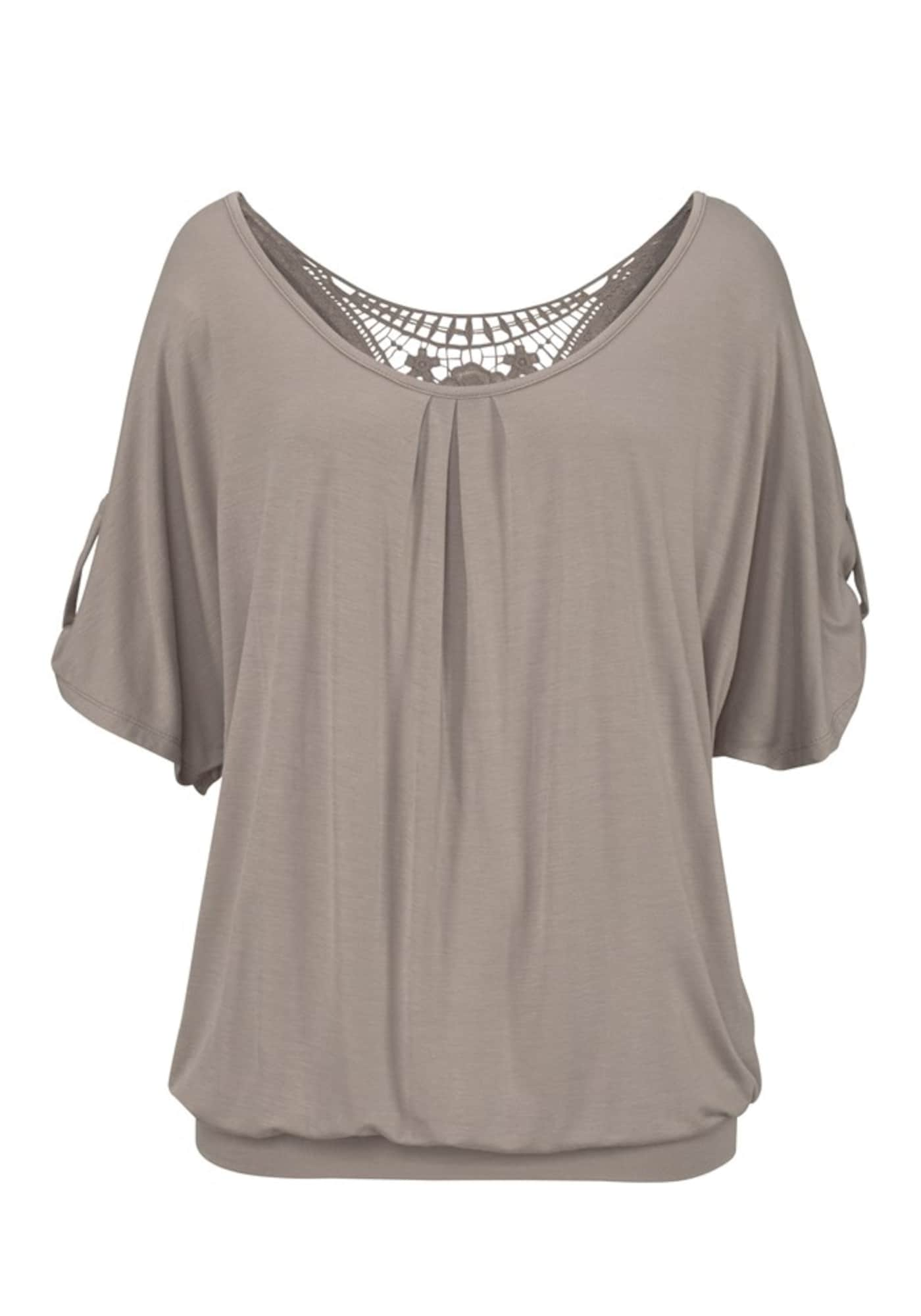LASCANA Marškinėliai tamsiai smėlinė