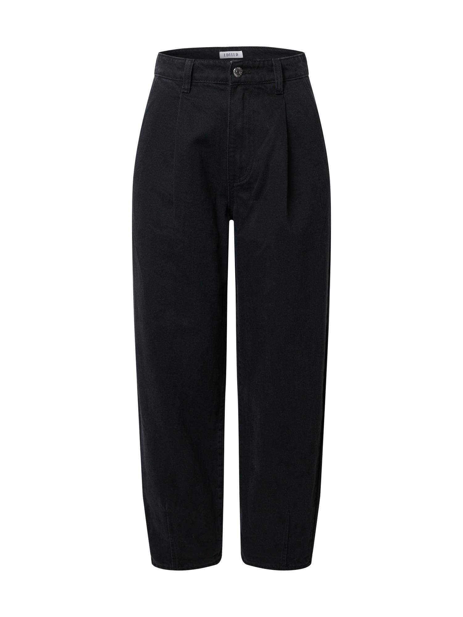 EDITED Džinsai su kantu 'Fiona' juodo džinso spalva