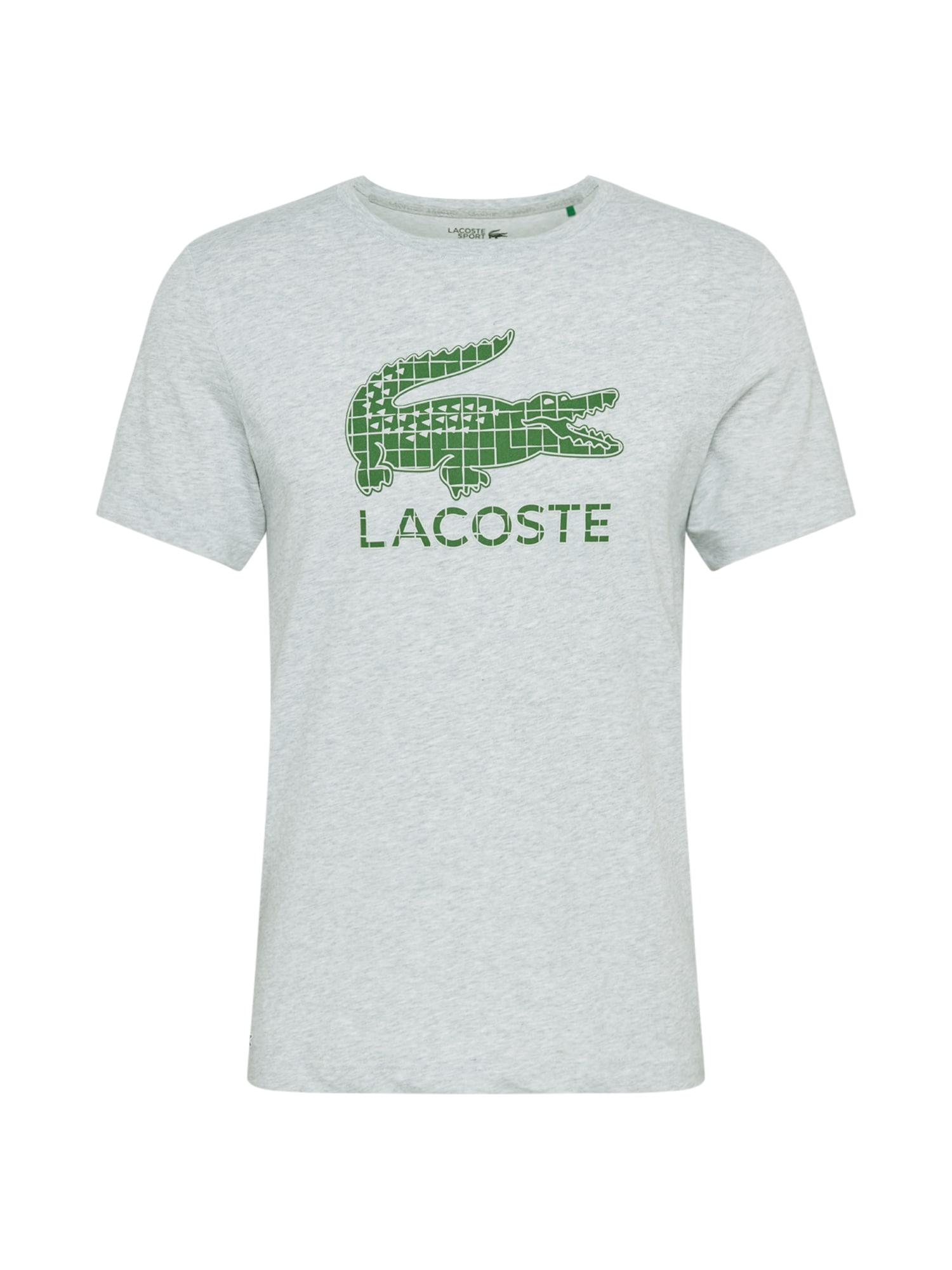 Lacoste Sport Funkční tričko  zelená / světle šedá