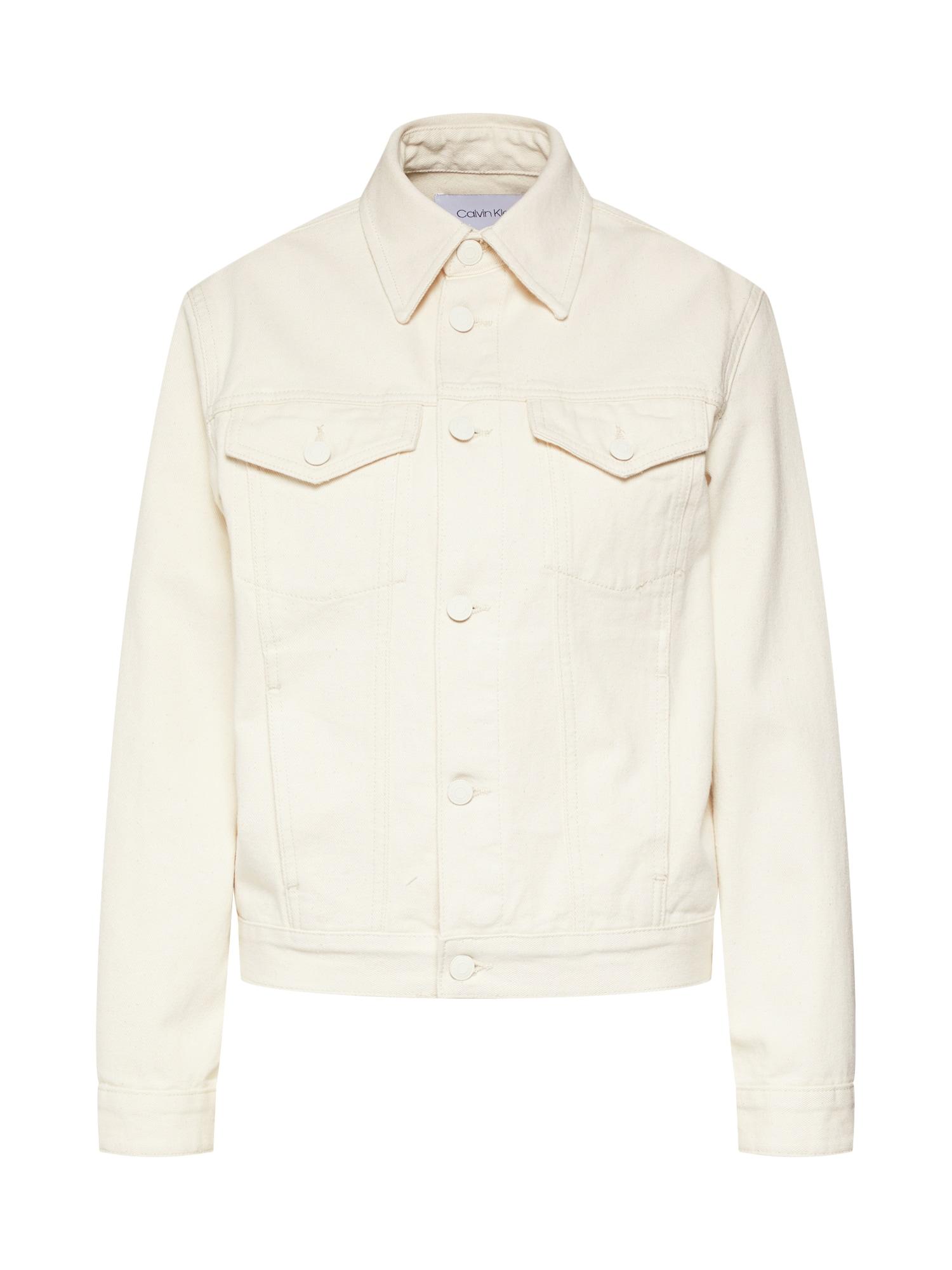 Přechodná bunda CLASSIC TRUCKER krémová Calvin Klein