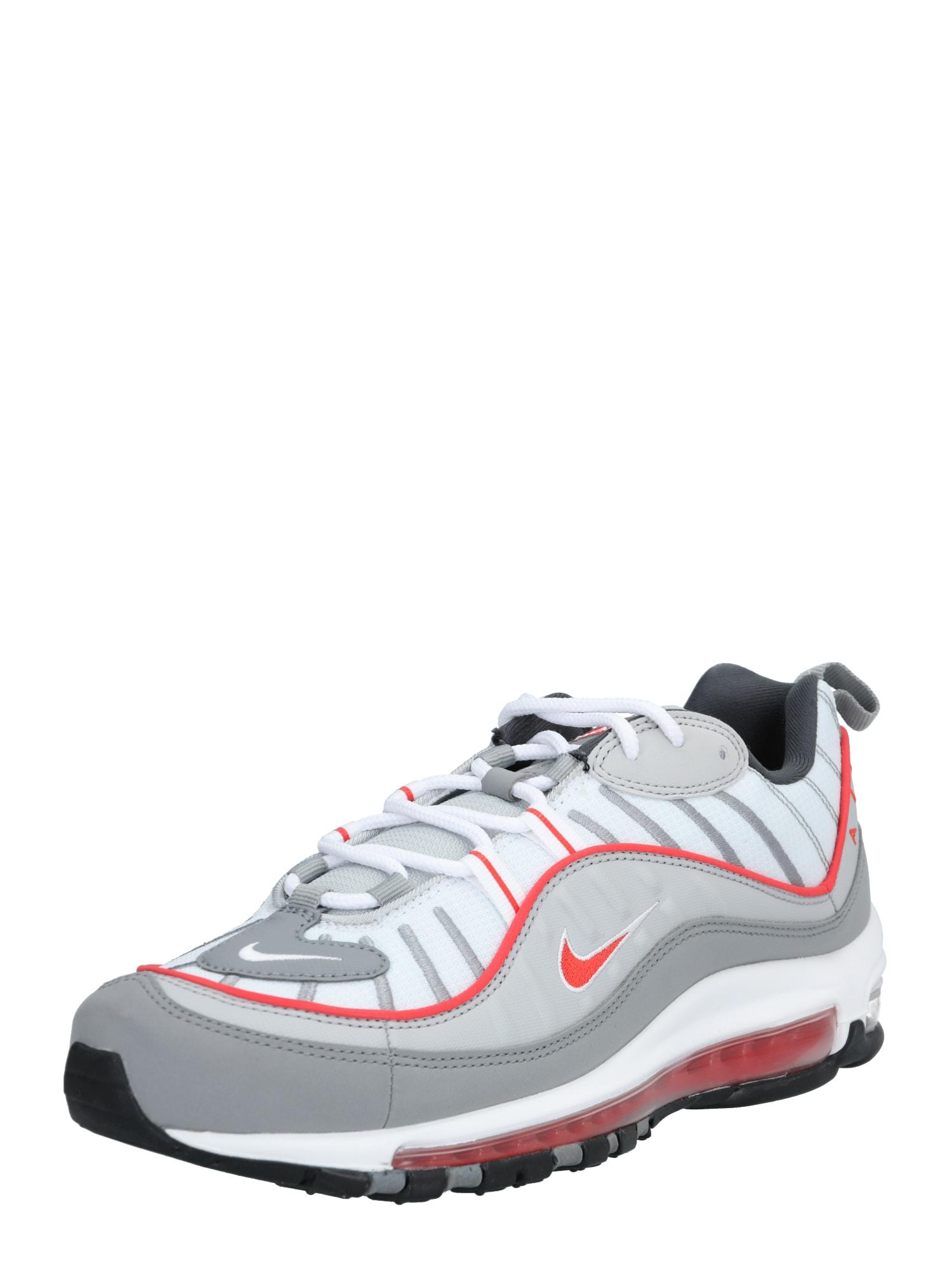 Nike Sportswear Sportbačiai be auliuko 'Air Max' balta / raudona / pilka
