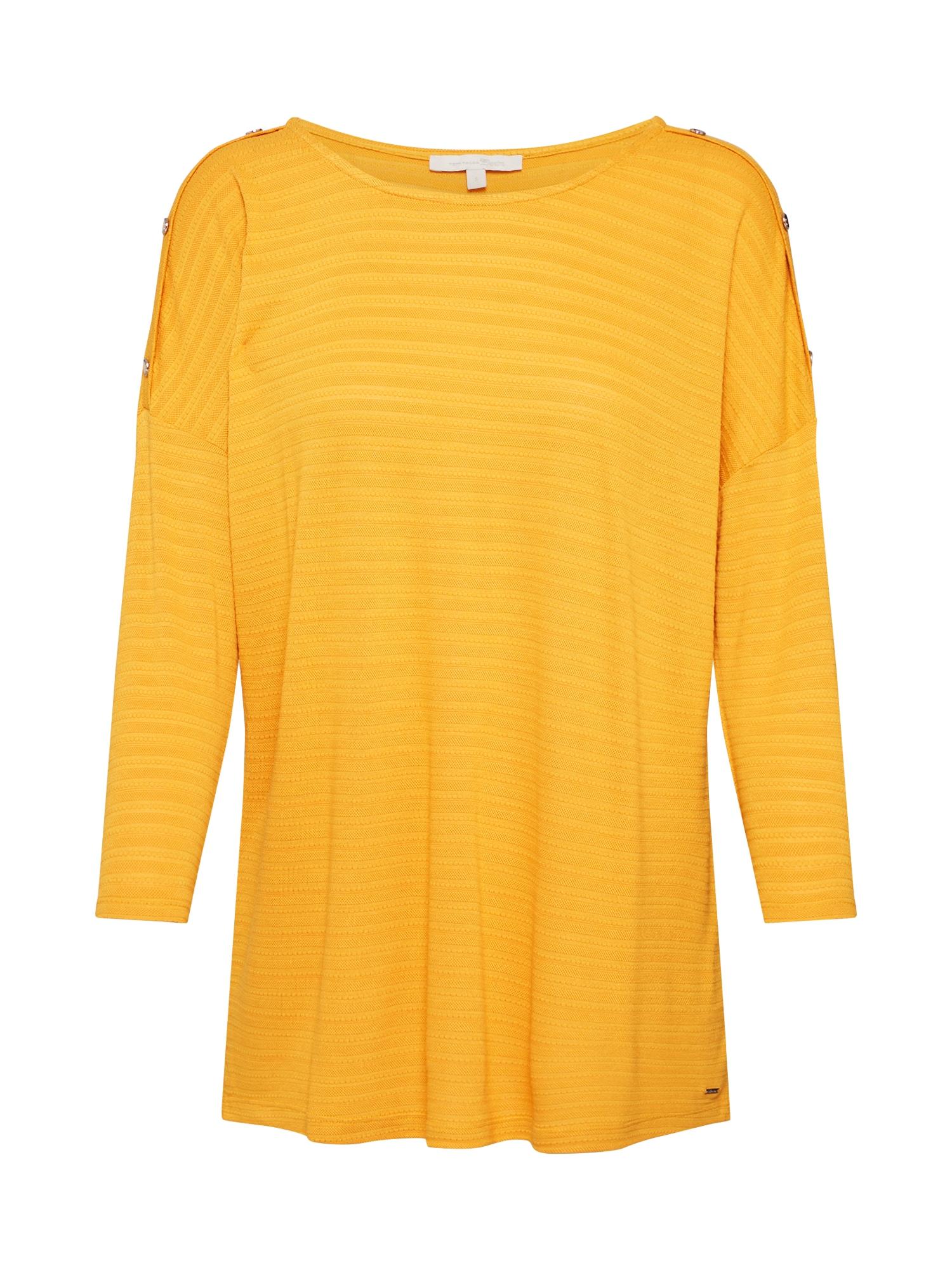 TOM TAILOR DENIM Marškinėliai geltona