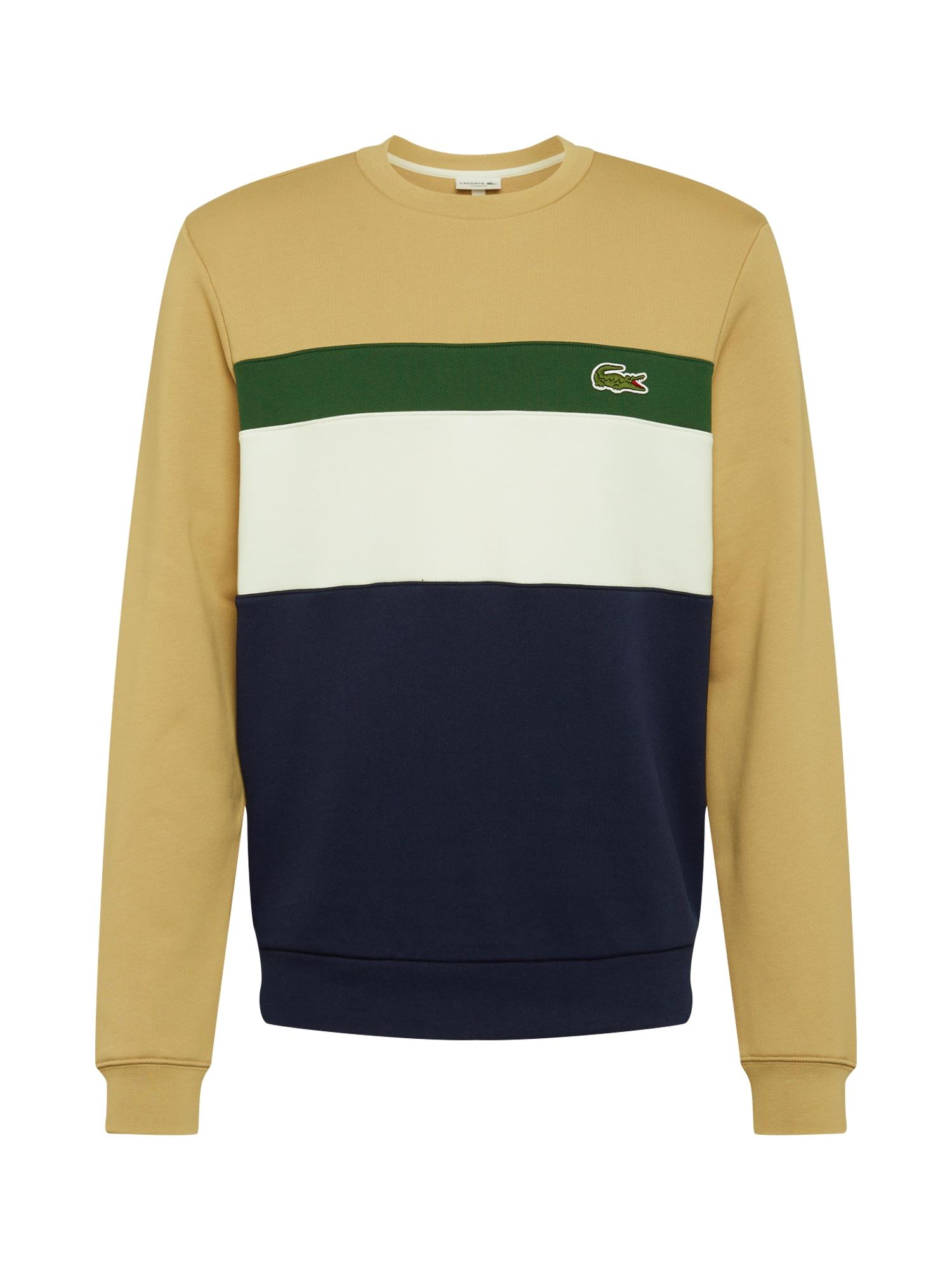 LACOSTE Megztinis be užsegimo balta / tamsiai mėlyna / šviesiai ruda / žalia