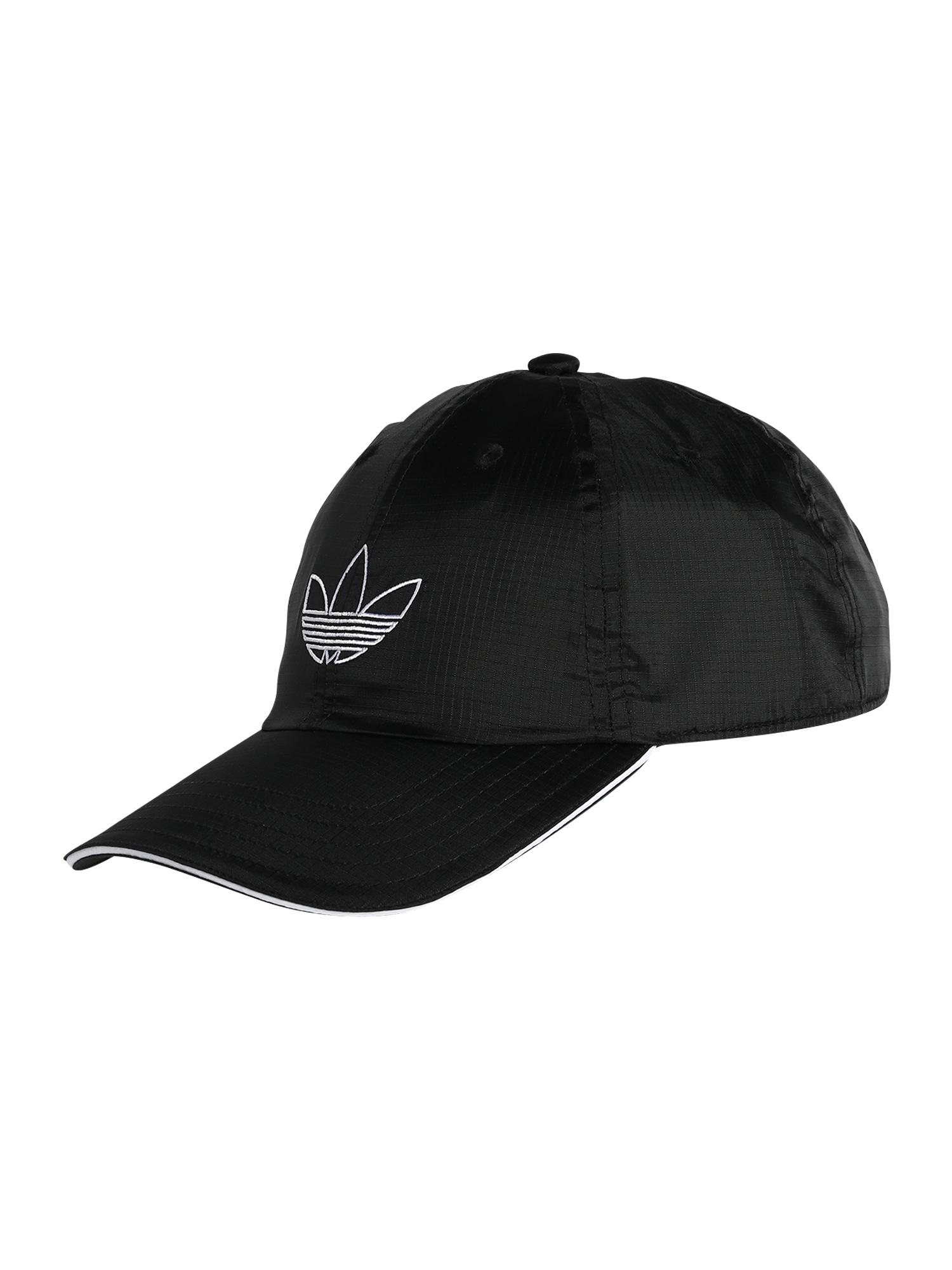 ADIDAS ORIGINALS Čiapka 'SPRT DAD CAP'  čierna / biela
