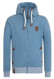 Naketano Herren Zipped Jacket Muzzy Spitzbubi III blau   04049502582634