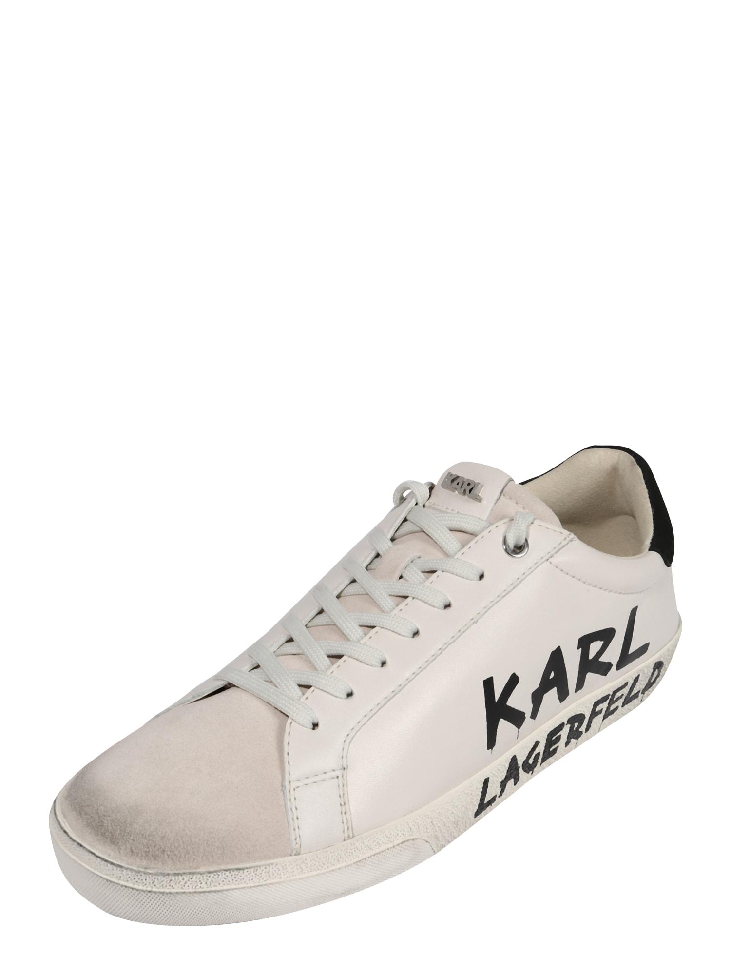 Karl Lagerfeld Nízke tenisky 'SKOOL'  biela / čierna