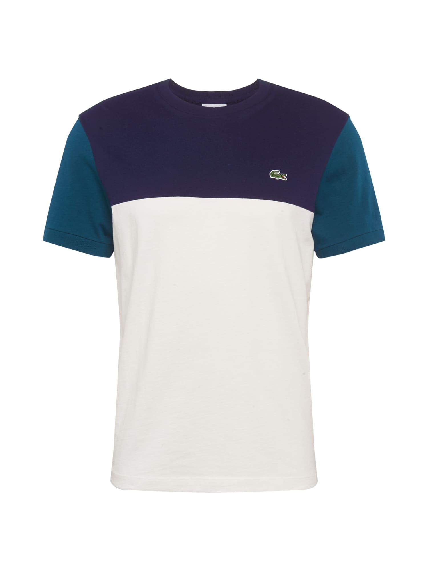 LACOSTE Tričko  námornícka modrá / biela / nebesky modrá