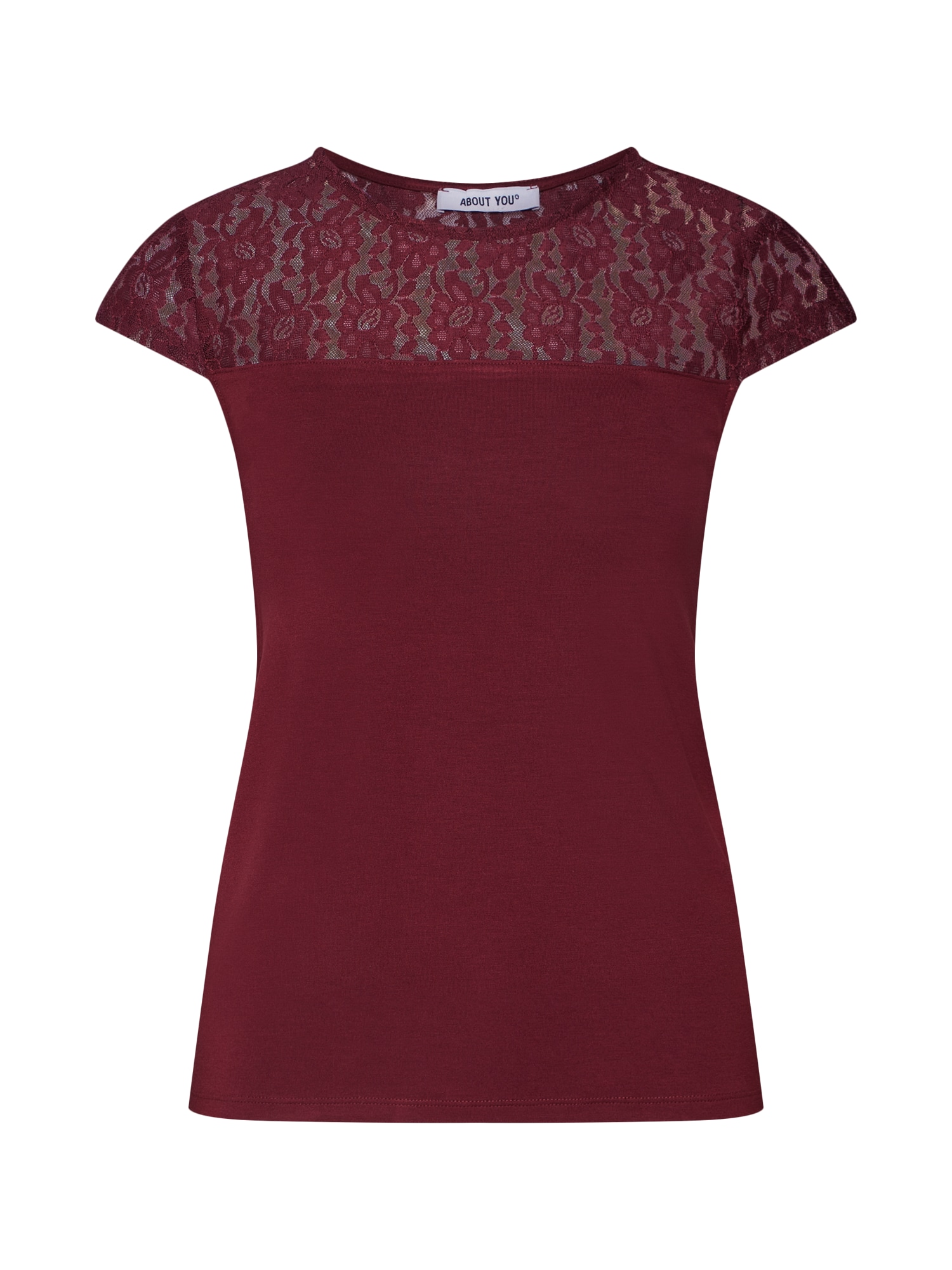 ABOUT YOU Marškinėliai 'Emilie' vyšninė spalva