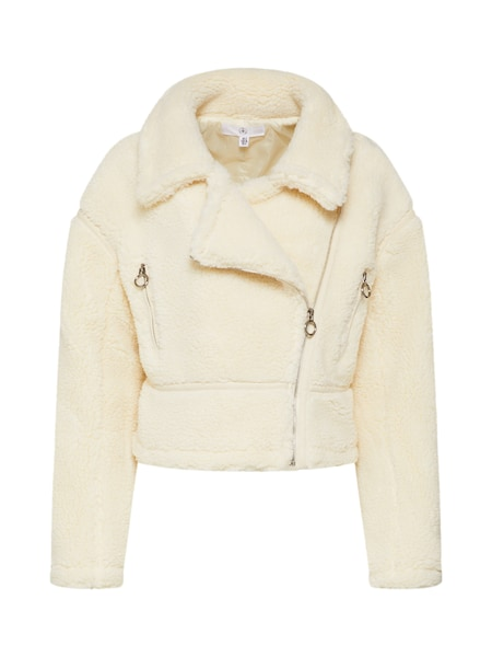 Jacken für Frauen - Missguided Jacke 'Borg Cropped Aviator' creme  - Onlineshop ABOUT YOU