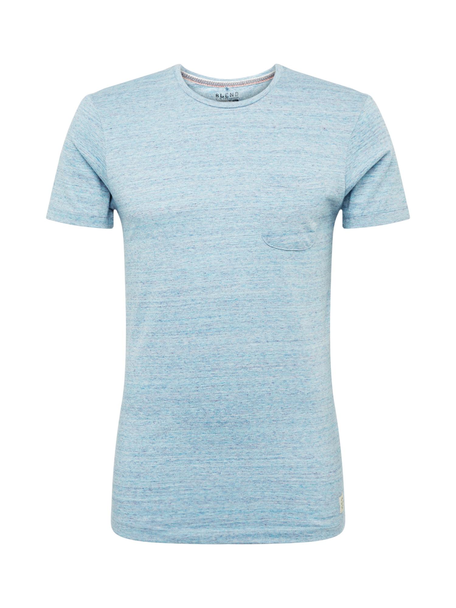 BLEND Marškinėliai mėlyna
