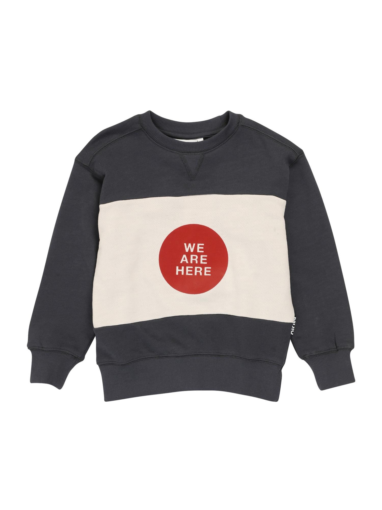 Molo Megztinis be užsegimo tamsiai pilka / balta / raudona