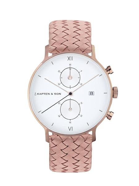 Uhren für Frauen - Kapten Son Armbanduhr 'Chrono Woven' rosa  - Onlineshop ABOUT YOU