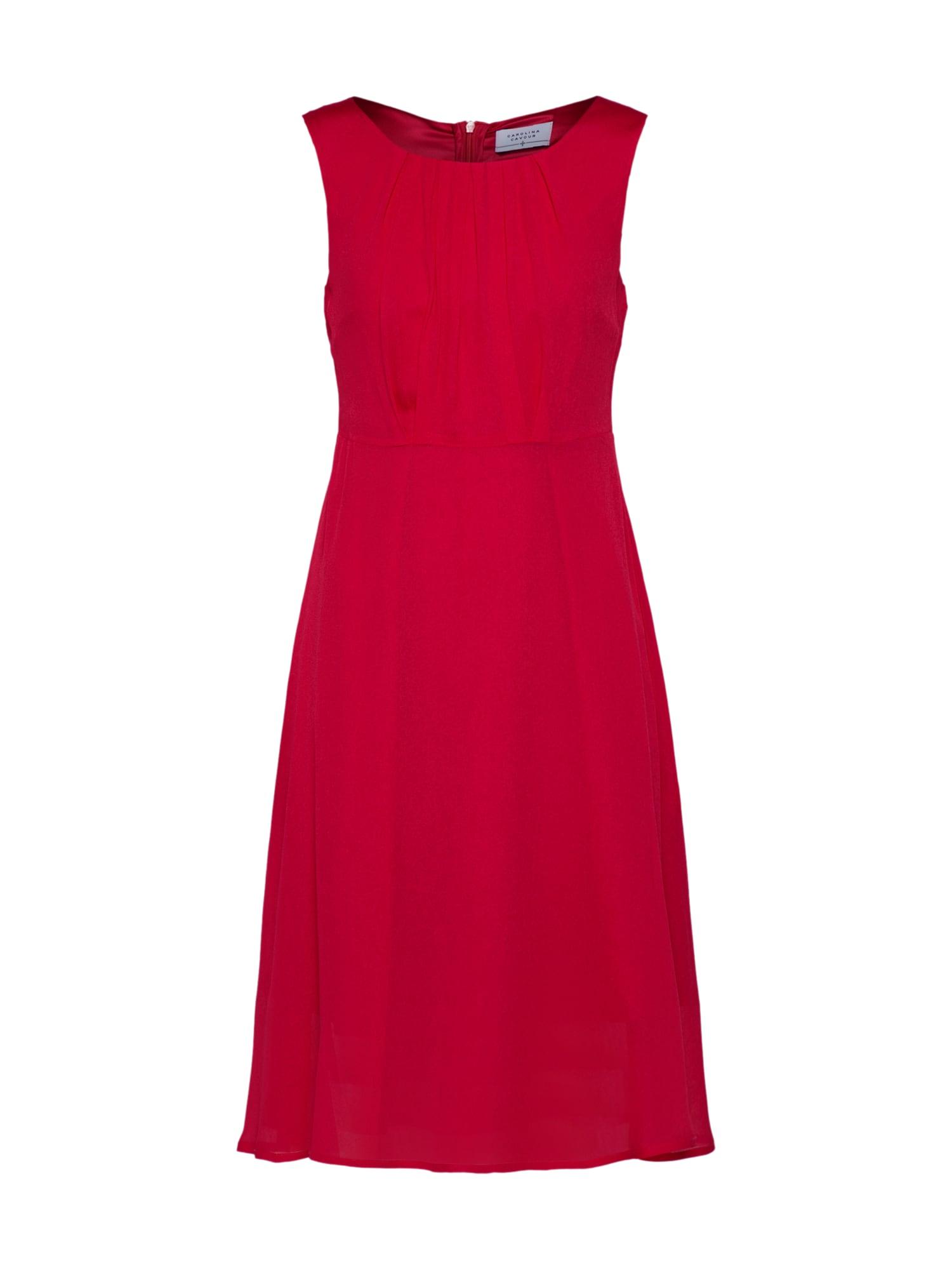 Koktejlové šaty červená Carolina Cavour