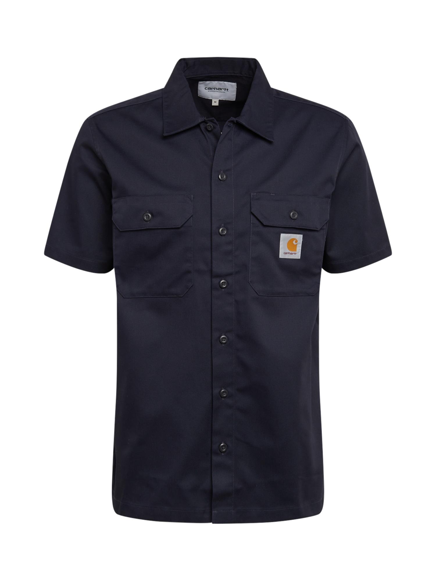 Carhartt WIP Dalykiniai marškiniai 'S/S Master Shirt' tamsiai mėlyna