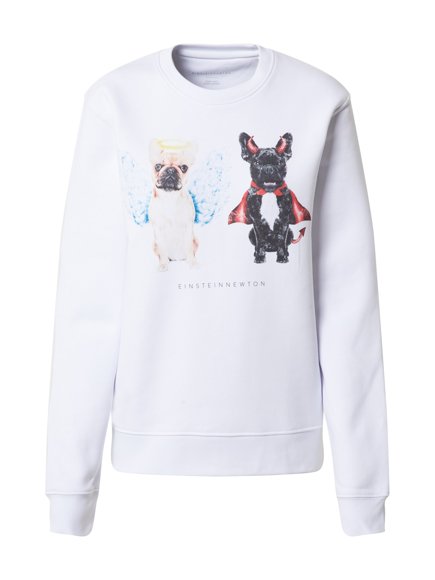 EINSTEIN & NEWTON Megztinis be užsegimo 'Good Dogs Sweatshirt Klara Geist' mišrios spalvos / balta