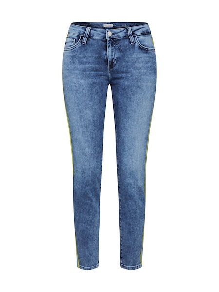 Hosen - Jeans 'Midi Athleisure Jean' › Rich Royal › türkis blue denim gelb  - Onlineshop ABOUT YOU
