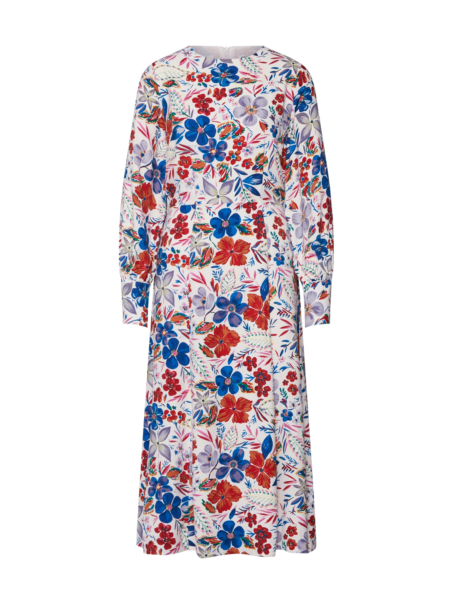 Šaty Saga long sleeved dress mix barev bílá Essentiel Antwerp