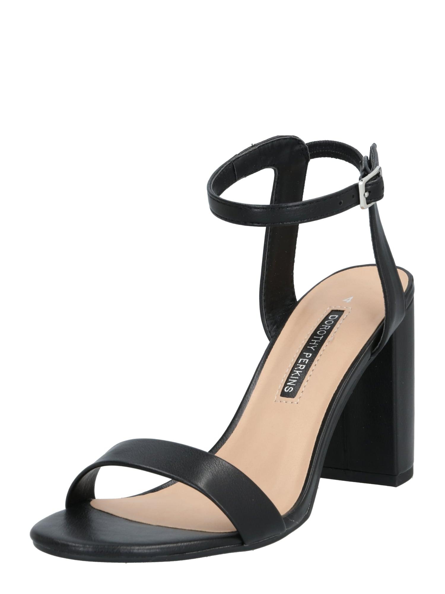 Dorothy Perkins Remienkové sandále 'Shimmer'  čierna
