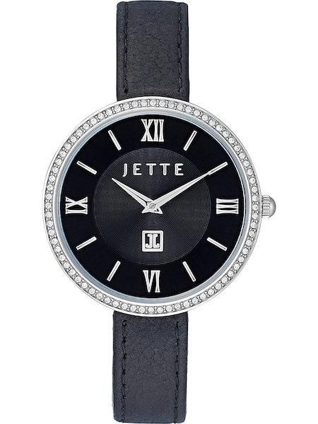 Uhren für Frauen - JETTE Uhr schwarz silber  - Onlineshop ABOUT YOU