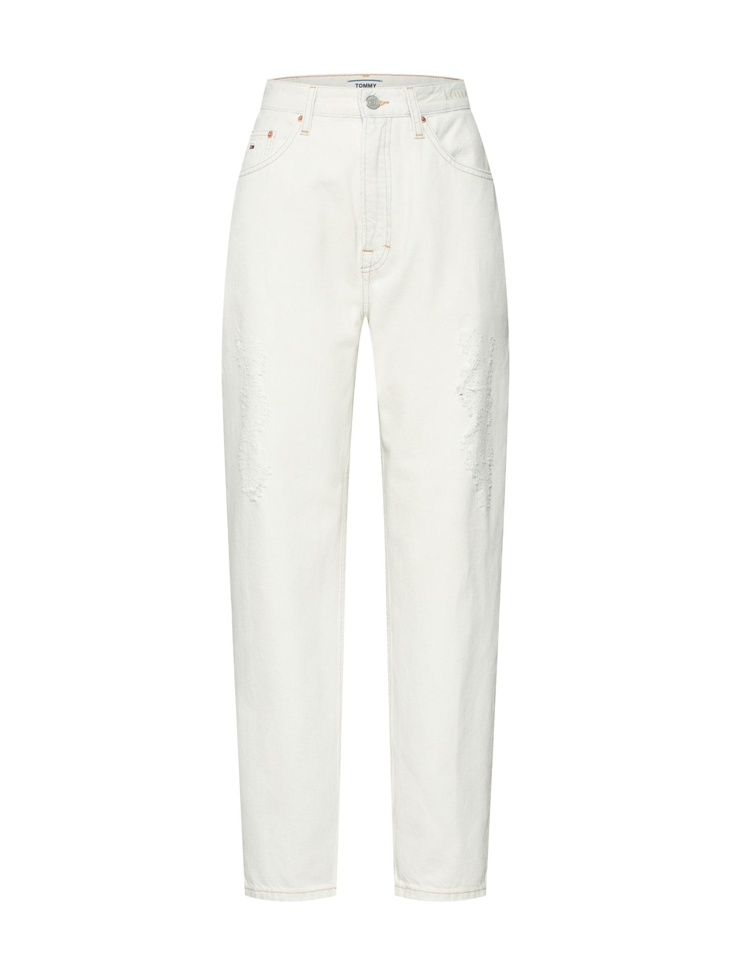Džíny HIGH RISE TAPERED TJ 2004 ODTLB bílá Tommy Jeans