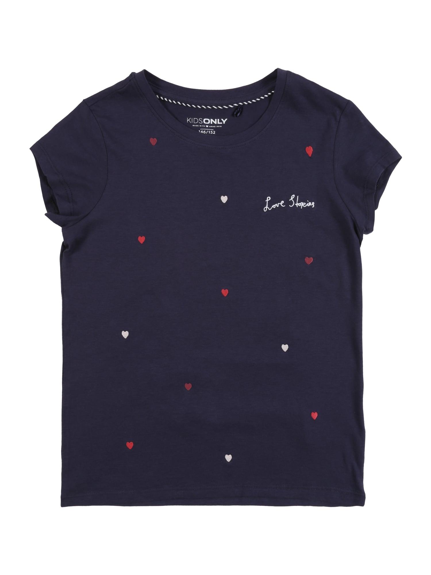 KIDS ONLY Marškinėliai tamsiai mėlyna