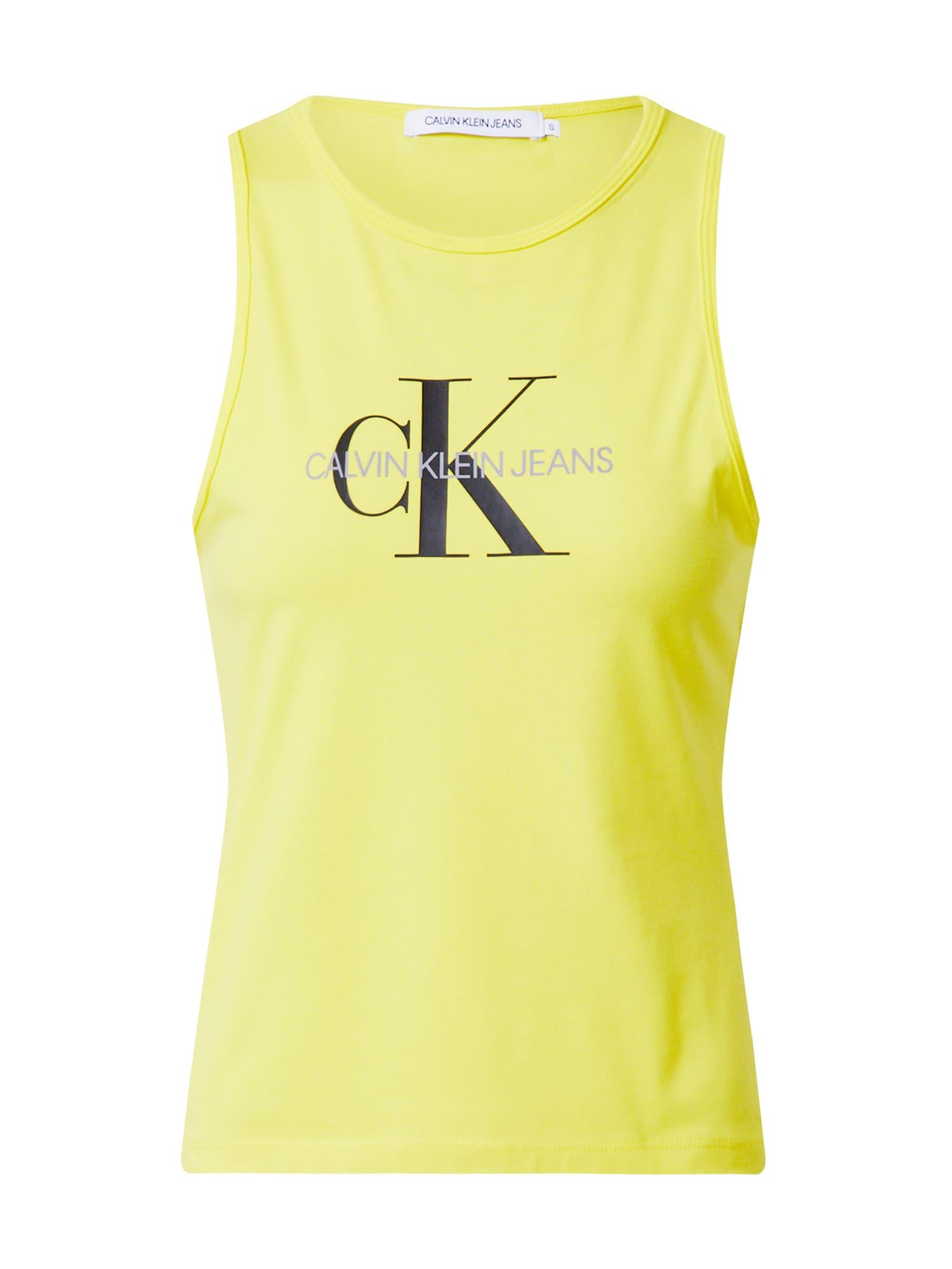 Calvin Klein Jeans Top 'MONOGRAM STRETCH SPORTY TANK'  žlté
