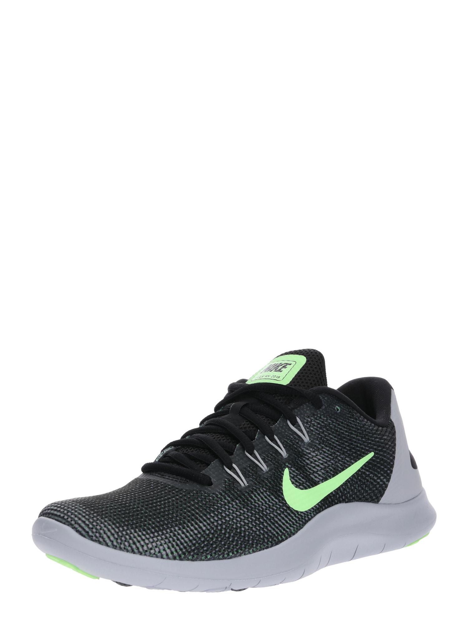 Běžecká obuv Flex Run světle šedá kiwi černá NIKE