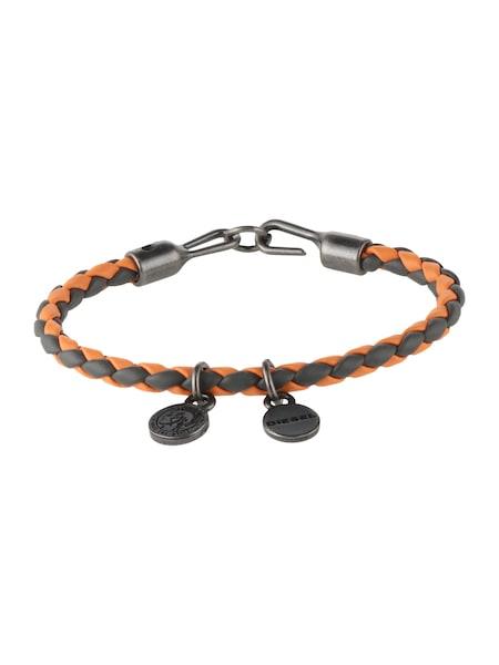 Armbaender für Frauen - DIESEL Armband 'Asanty' basaltgrau orange  - Onlineshop ABOUT YOU