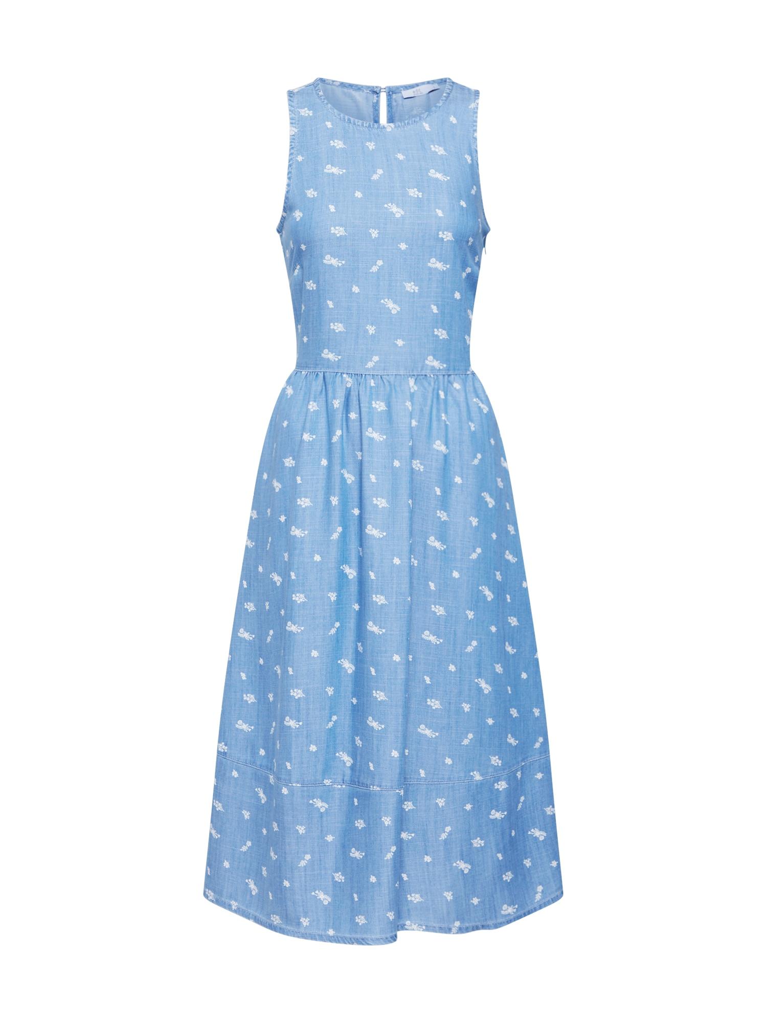 Letní šaty modrá džínovina EDC BY ESPRIT