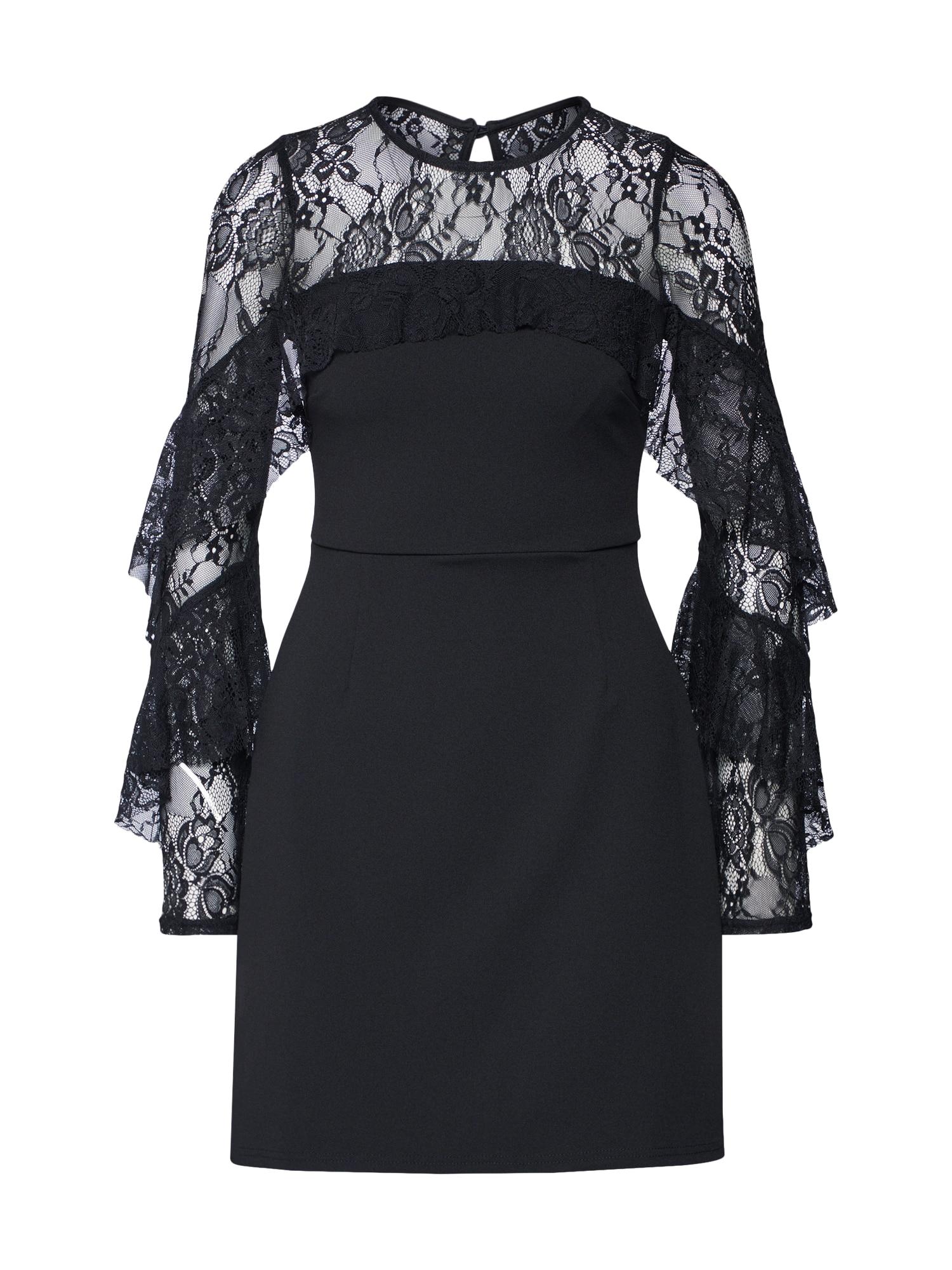 Koktejlové šaty černá Lipsy